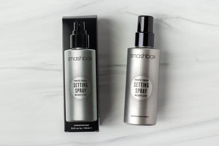 Smashbox photo finish makeup setting spray on a white background