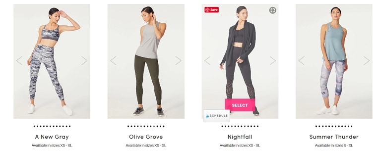 4 August 2020 Ellie Activewear outfit choices