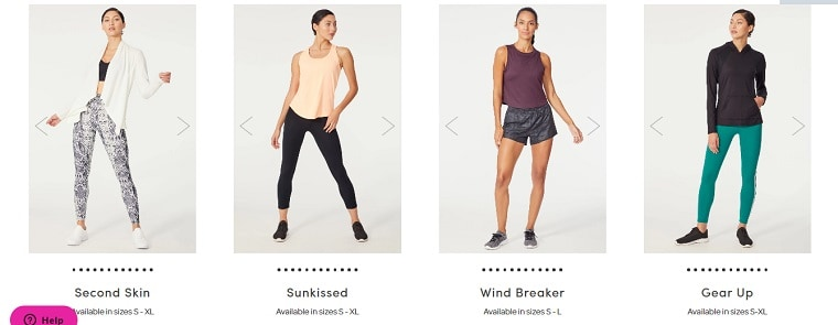 4 August 2020 Ellie Workout Outfit choices
