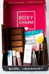 July 2020 BoxyCharm Base Box with all of the items displayed inside