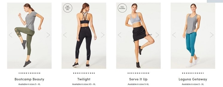 4 ellie activewear outfits to choose from for july 2020