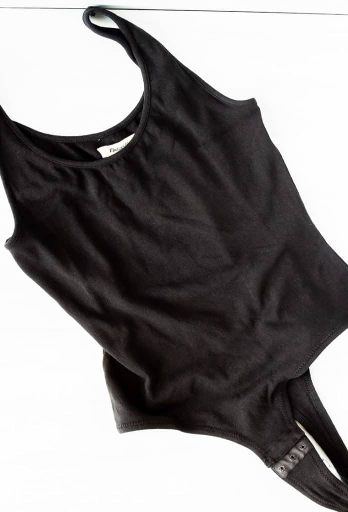 Madewell tank body suit on a white background