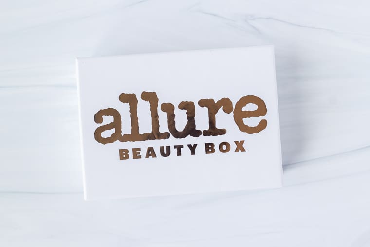 June 2020 Allure Beauty Box on a white background