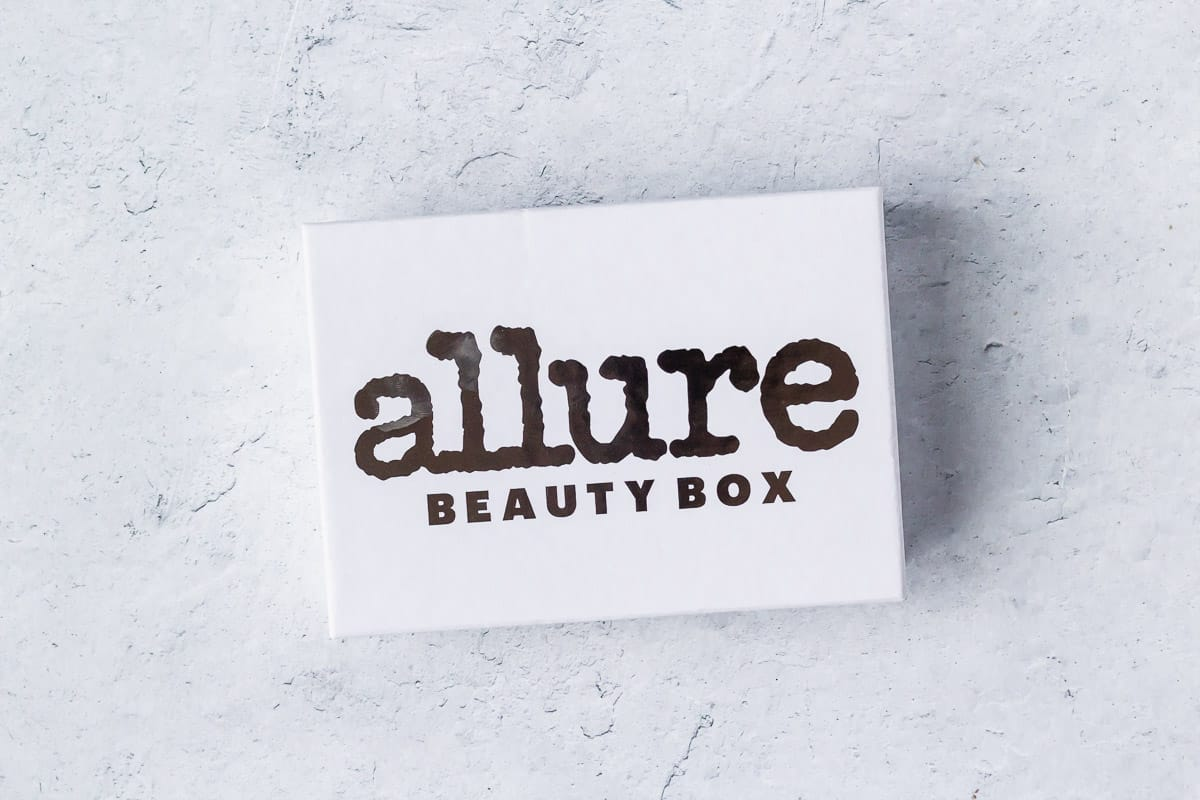 July 2020 Allure beauty box on a white background