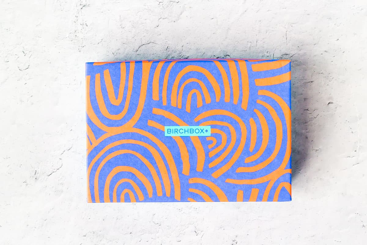 August 2020 Birchbox box on a white background