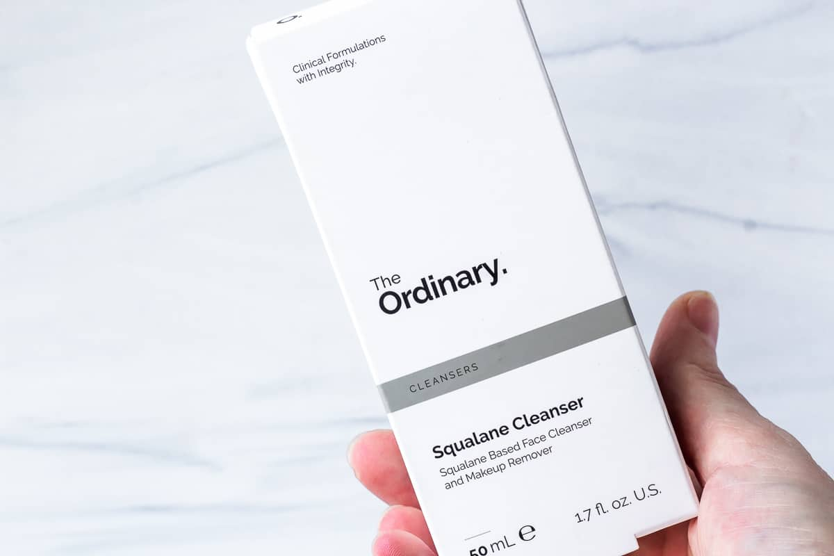 The Ordinary Squalane cleanser box