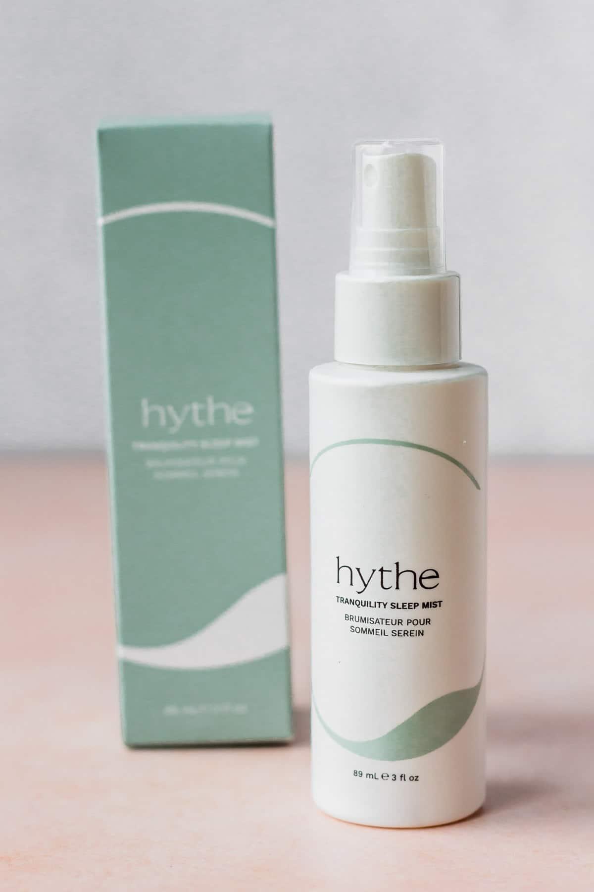 Hythe Sleep Mist bottle and box