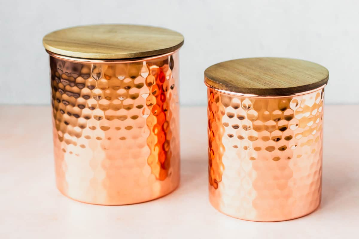 2 Uncommon James Copper Canisters