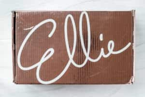 October 2020 Ellie box on a white background