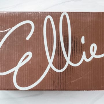 March 2021 Ellie box on a white background