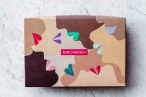 October 2020 Birchbox box on a white background
