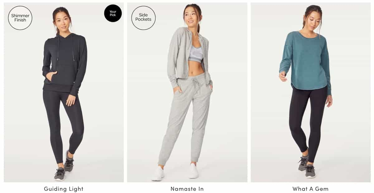 3 althletic wear outfits