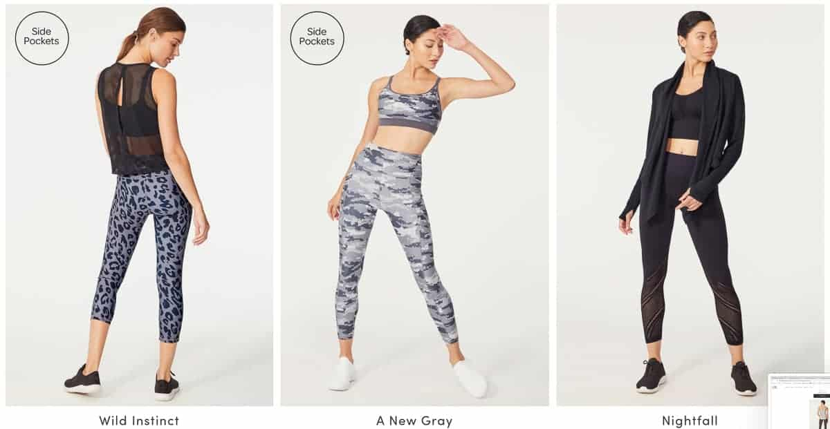 3 workout outfits