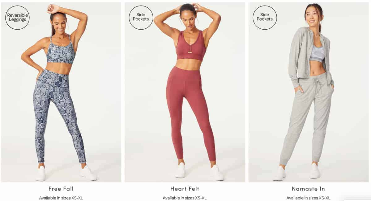 3 activewear outfits from Ellie