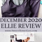 2 images of the items in my december 2020 ellie box separated by text overlay