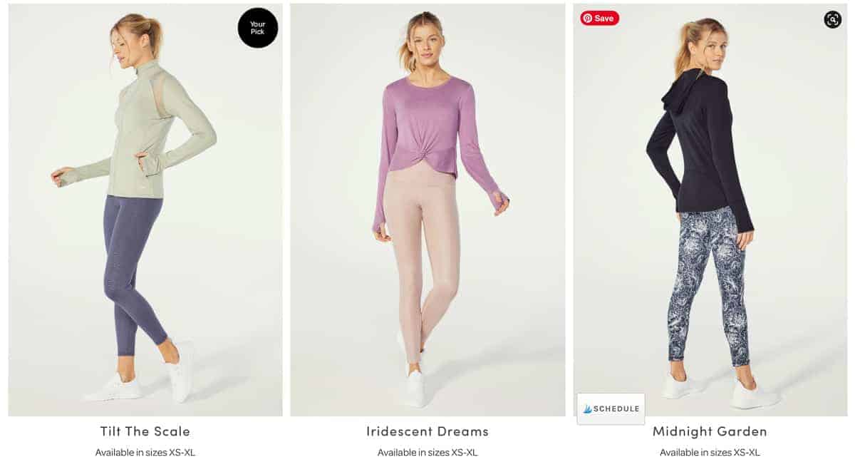 3 activewear outfit choices for the february 2021 ellie subscription box