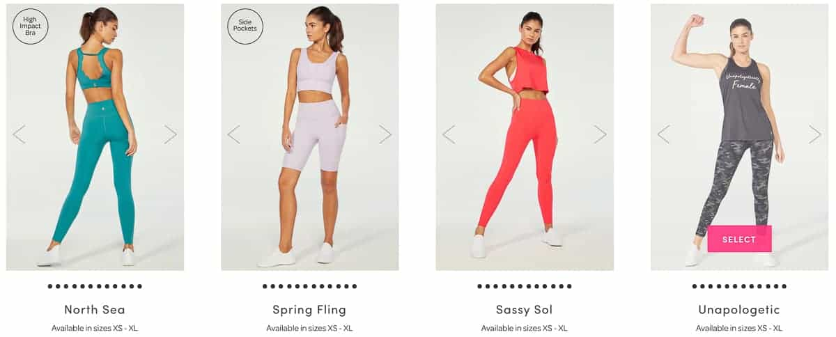 4 workout outfit choices for the april 2021 ellie box