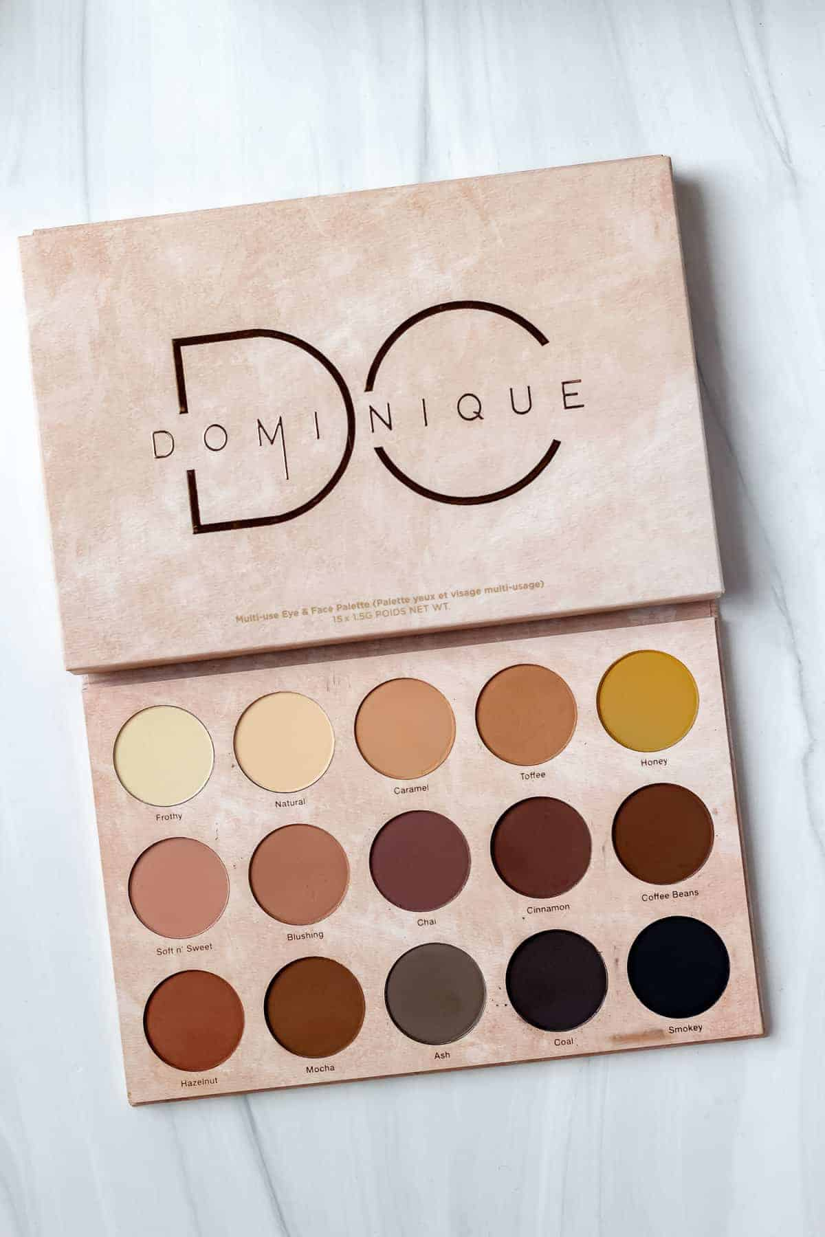 Dominique Cosmetics Transition Palette on a white background