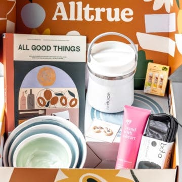 Alltrue box with items inside