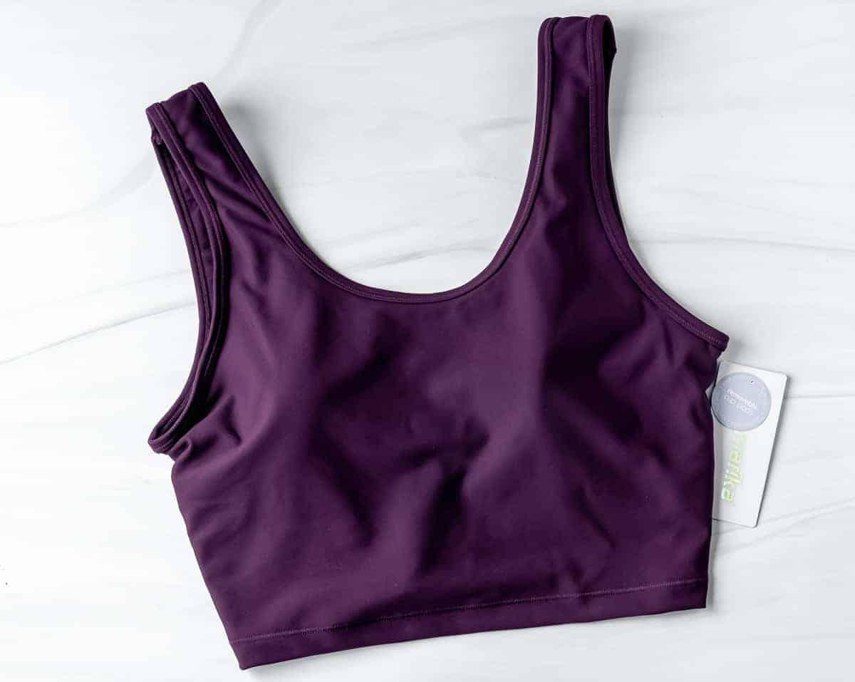 Marika Layla Long Sports Bra in potent purple