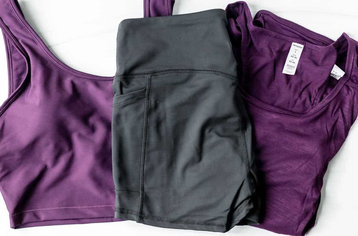 All three pieces from my August 2021 Ellie activewear set