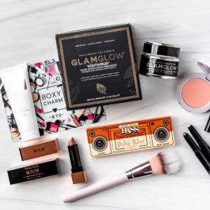 All of the items from my September 2021 Boxycharm box laid out on a white background.