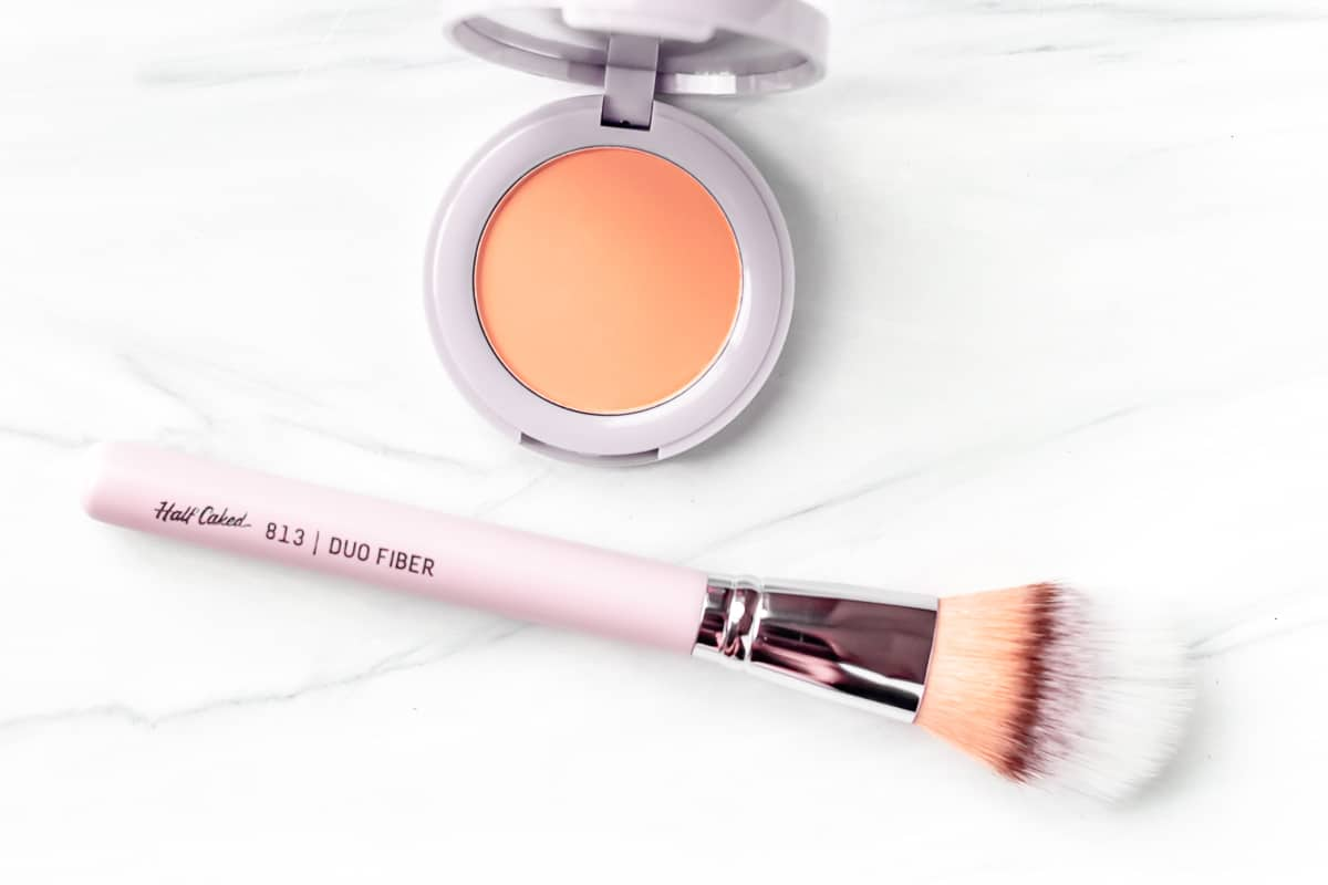 Half Caked Best Friends Forever - In Bloom + Duo Fiber Brush Set on a white background.